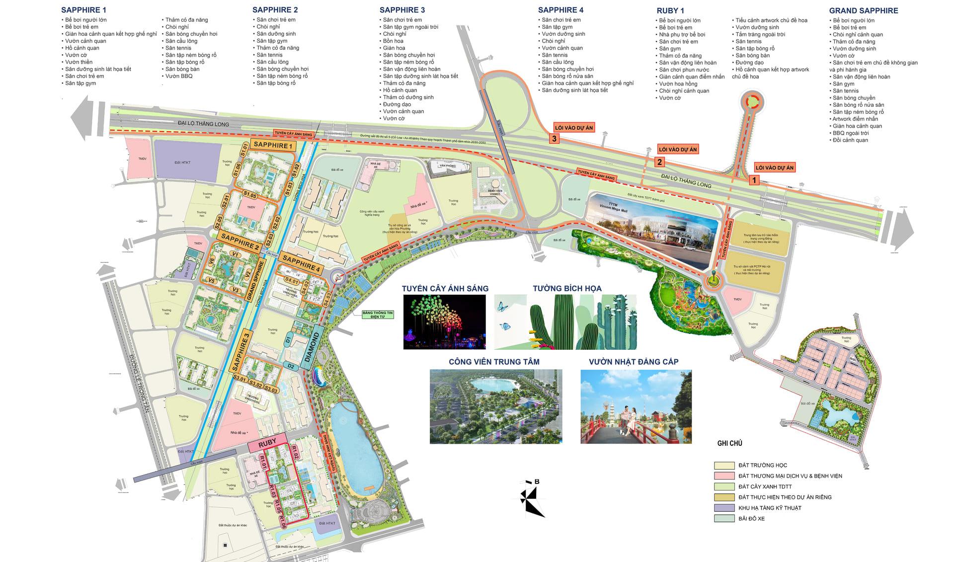 mặt bằng tổng thể dự án vinhomes smart city
