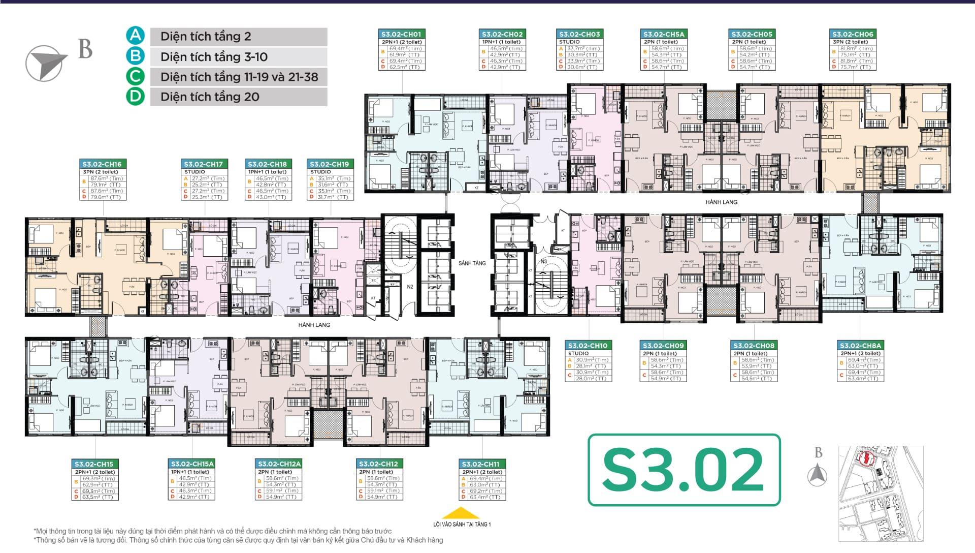 tòa S3.02 phân khu sapphire vinhomes smart city tây mỗ