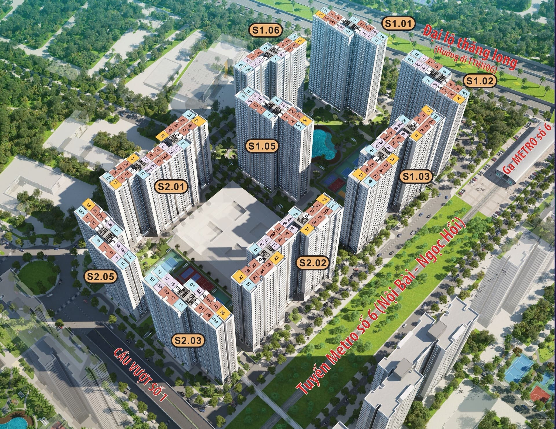 phân khu The Sapphire Vinhomes smart city
