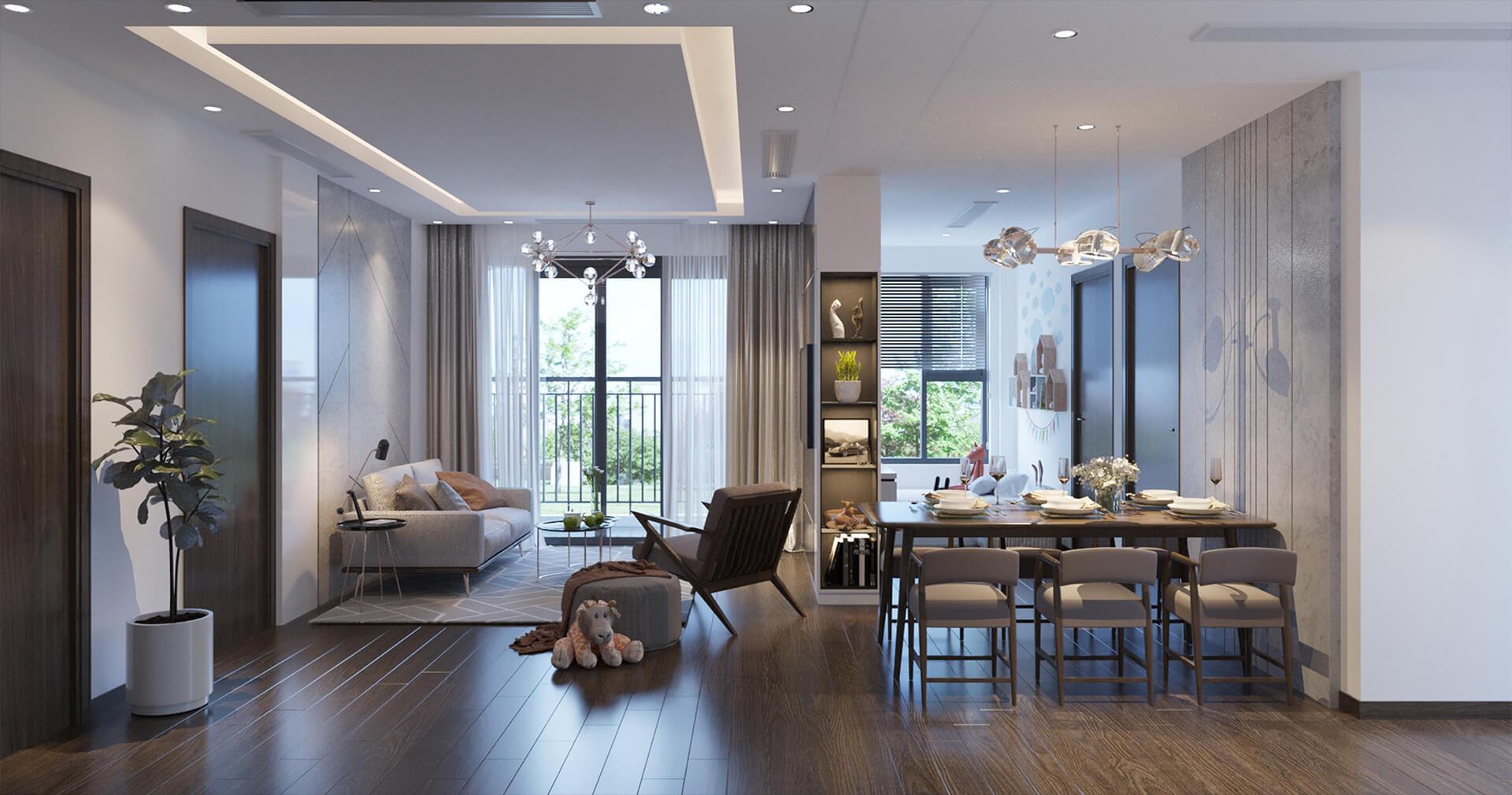 phối cảnh nội thất căn hộ vinhomes smart city