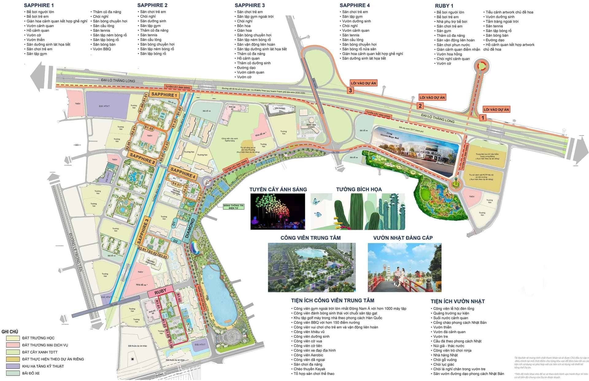 vị trí phân khu ruby vinhomes smart city tây mỗ