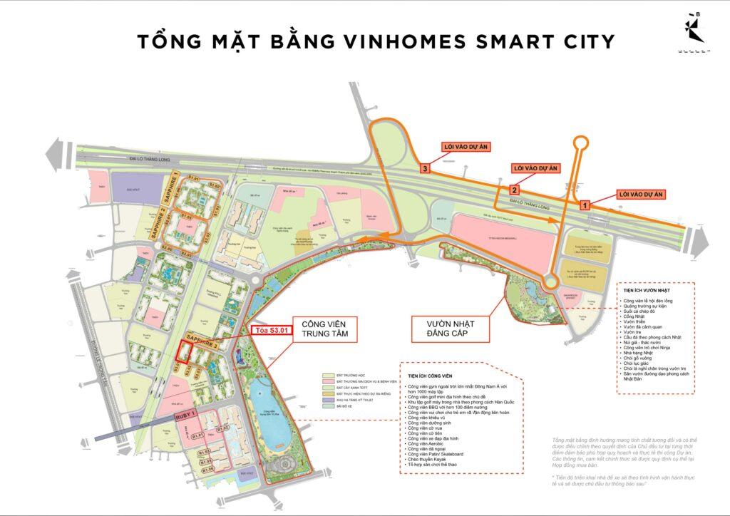 vị trí tòa s3.01 vinhomes smart city