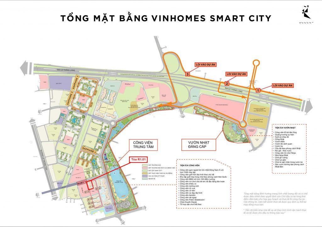 vị trí toàn r1.01 vinhomes smart city tây mỗ