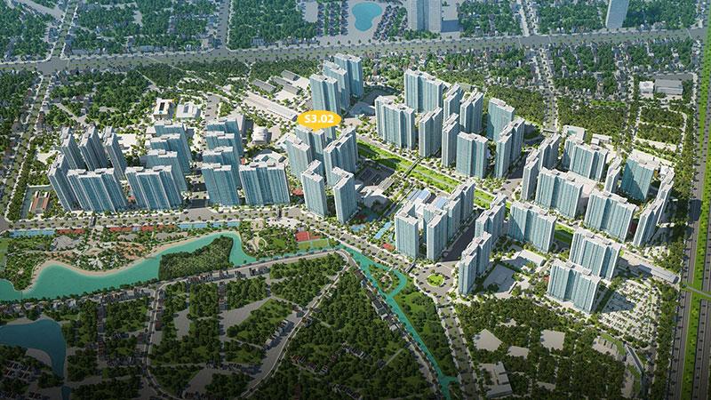vị trí tòa S3.02 vinhomes smart city tây mỗ