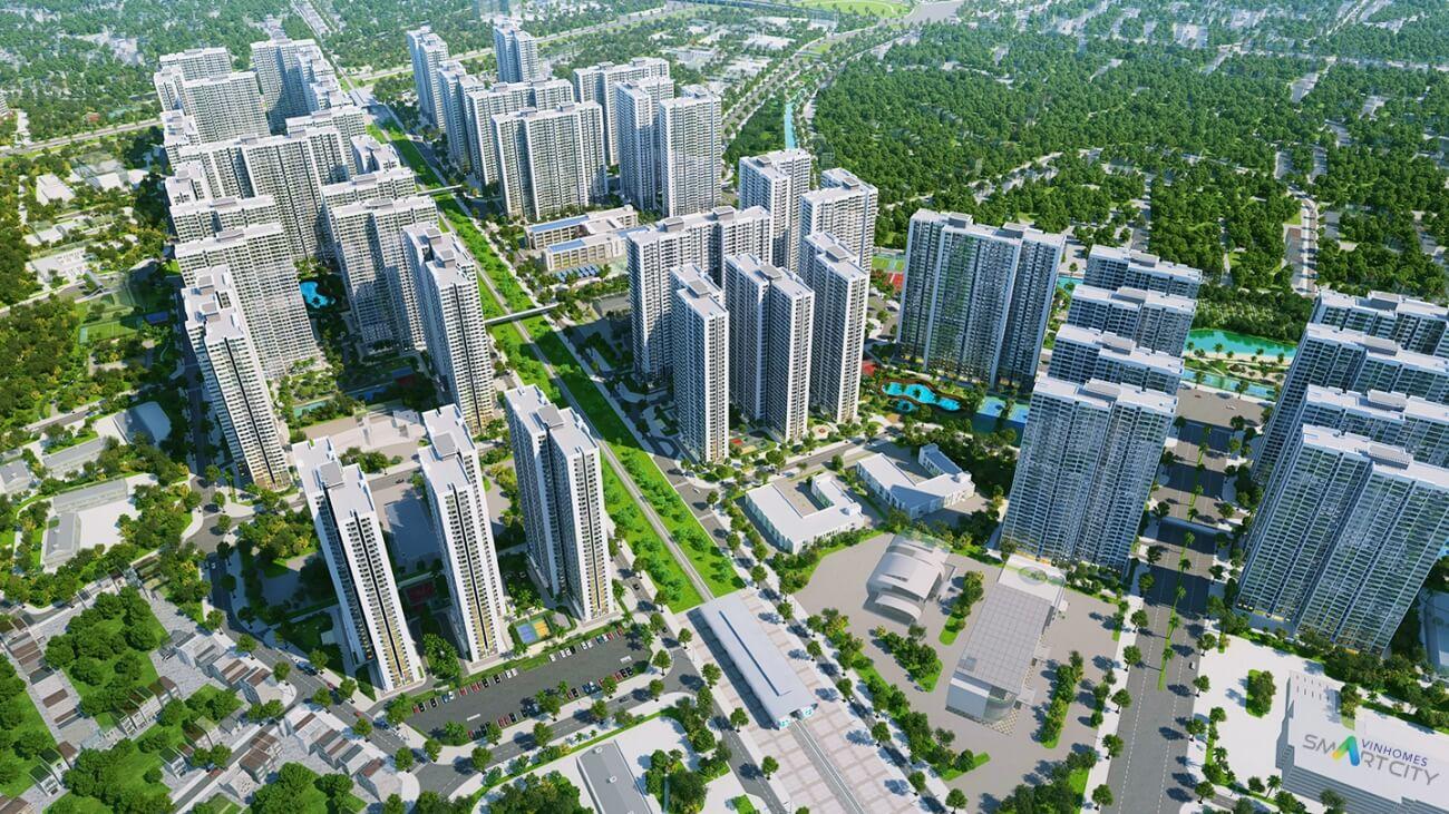 phối cảnh dự án vinhomes smart city
