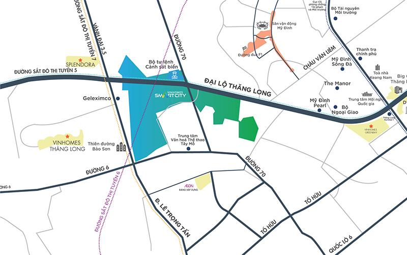 vị trí vinhomes smart city